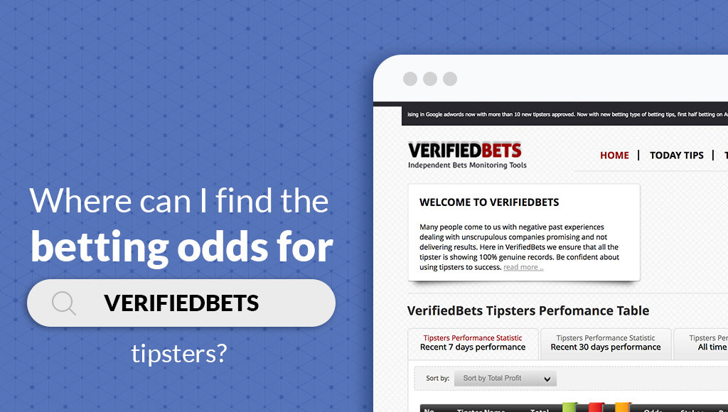 Where can I find the betting odds for verifiedbets tipsters?
